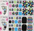 Mais novo estêncil 32 tipo 3D Nail Stickers Decalques, 30 pçs/lote pés cuidados nail art sticker adesivos para unhas pelicula unha decoração