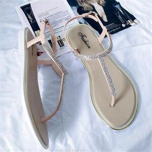Image 4 - לקדוח מים חדשים ב 2018, בנות עם דירות בקיץ, נעליים רומי, נעליים מזדמנים, ללא החלקה של נשים עקבים שטוחים, סנדלי