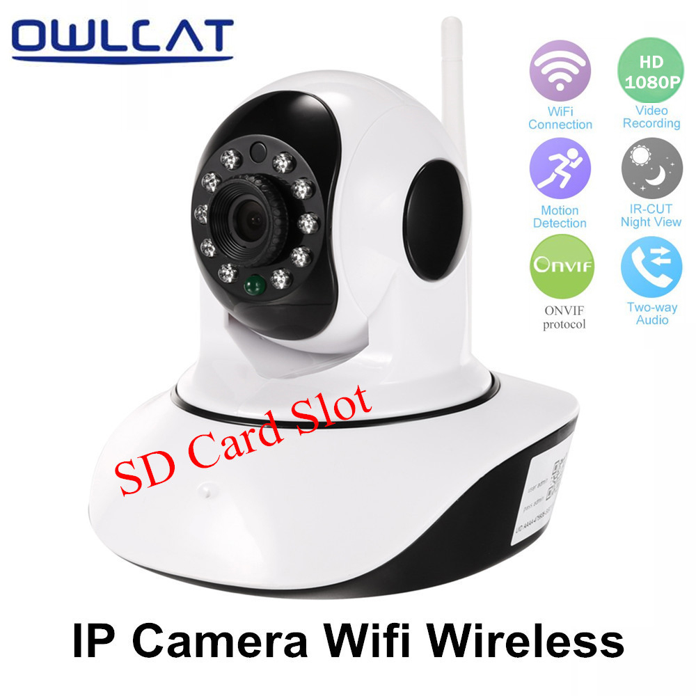 OwlCat Full HD 1080P 720P Dome Security CCTV Wifi IP Camera Pan/Tilt IR cut Two Way Audio P2P Baby Monitor & TF Card