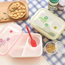 Plastic Bento Lunch Box Microwavable Lunchbox with Soup Bowl Portable Food Container Storage Boxes Kids Lunch Box School Picnic