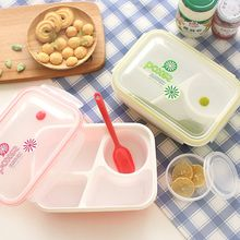 Plastic Bento Lunchbox Microwavable Lunchbox met Soepkom Draagbare Voedsel Container Opbergdozen Kids Lunchbox School Picknick(China)