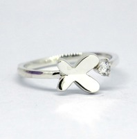Solid 925 Sterling Silver Butterfly Ring