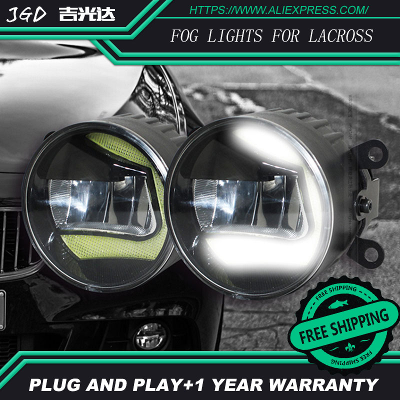 For Buick lacross LR2 Car styling front bumper LED fog Lights high brightness fog lamps 1set led front fog lights for jaguar s type ccx saloon 1999 2007 2008 car styling bumper high brightness drl driving fog lamps 1set