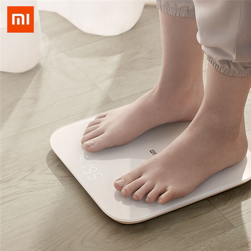 XIAOMI 2.0 Intelligent Weight Scale Smart APP Control Health Weight Scale LED Display Fitness Yoga Tool Body Fat Monitors New(China)