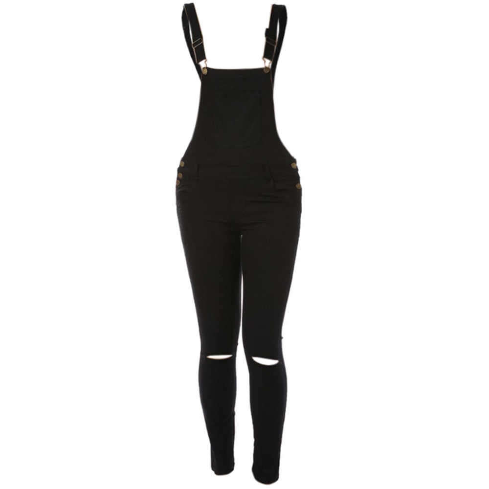 2019 женские комбинезоны, свободный джинсовый комбинезон с дырками, джинсовые комбинезоны, джинсовые брюки, комбинезон combi pantalon femme # XP25