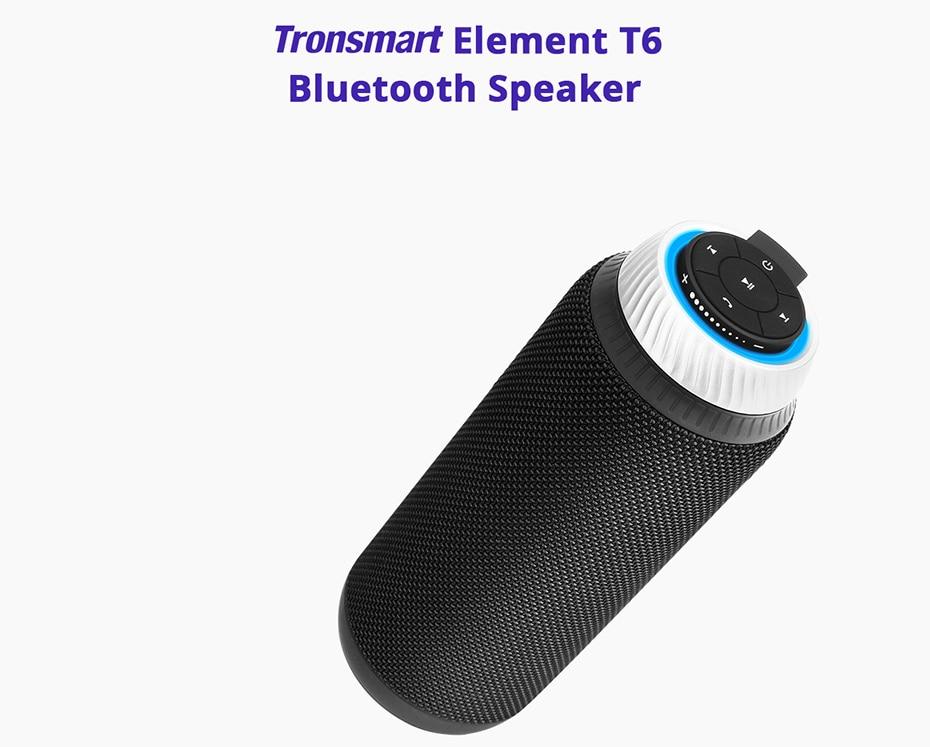 Tronsmart Element T6 Bluetooth 4.1 Altavoz portátil Receptor de audio de la barra de sonido inalámbrica Mini altavoces USB AUX para reproductor de música MP3 (1)