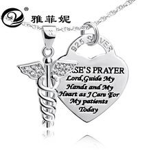 product 925 sterling silver necklace pendant double snake mace medicine angel hearts plate factory direct sale
