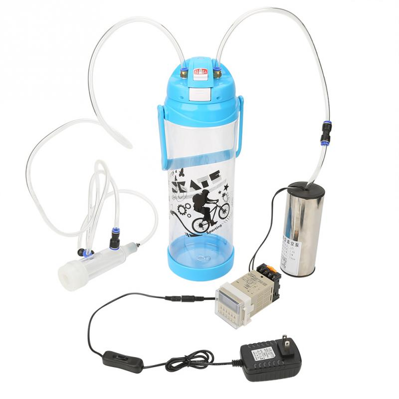 3L Manual Milking Machine Sheep Goat Milker Portable Vacuum Pump Farm Home Milk