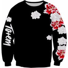 PLstar Cosmos Men Women Sweatshirt Totem Floral Sweatshirt 3D Print Long sleeve Outwear high quality Crewneck Casual Pullover floral print men sweatshirt