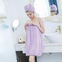 Follome Women Soft Bath Towel Body Spa Bath Big Thick Towel Shower Bow Solid With Quick