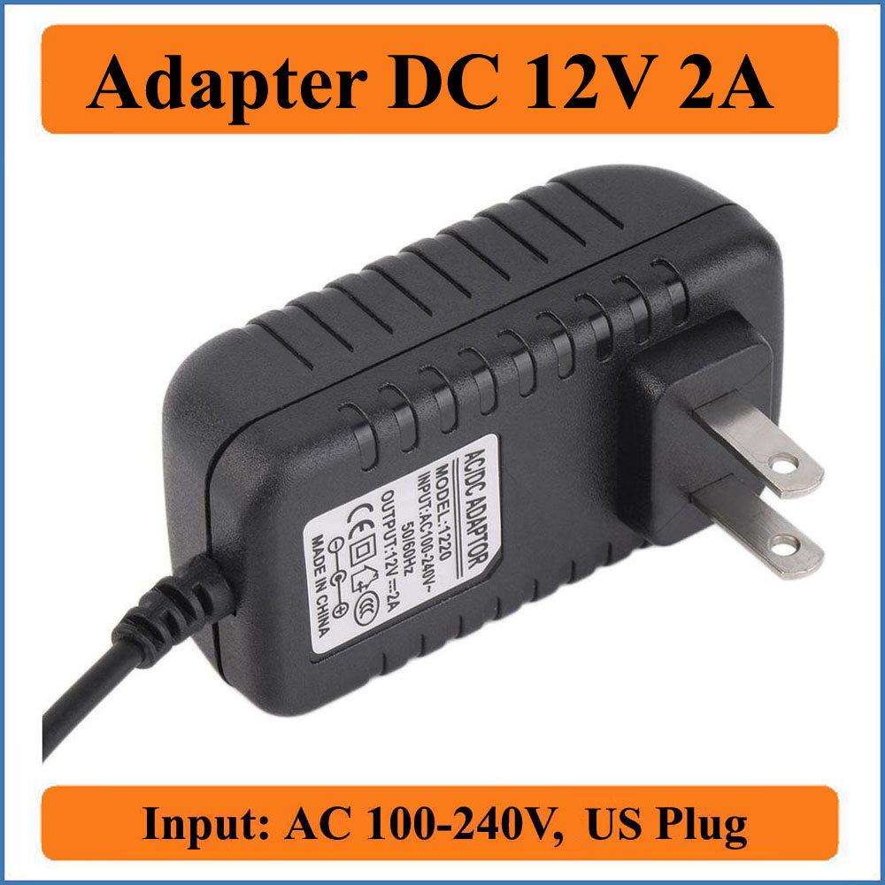 12V 2A US Plug AC DC Adapter AC 100-240V Converter Adapters to DC 12V 2000mA 24W Power Supply Charger For Led Light Strip