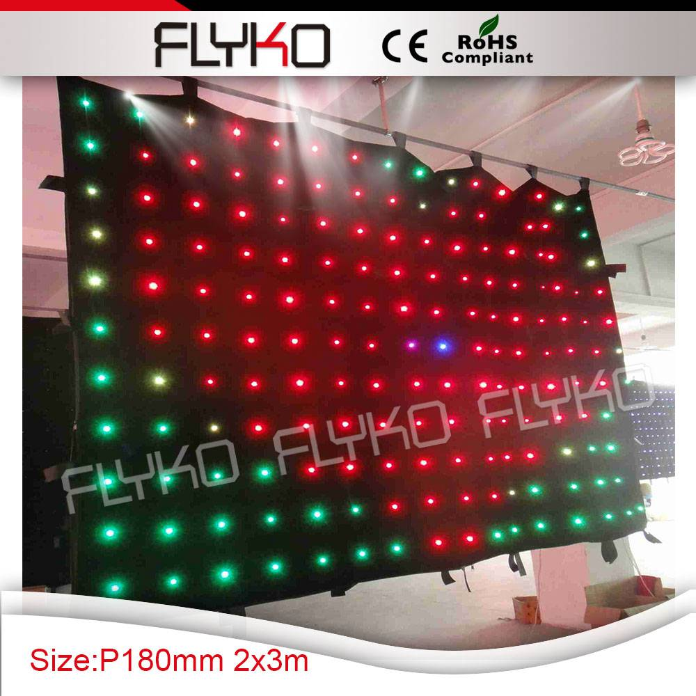 Free shipping p180mm 2m by 3m led stage curtain|led stage curtain|stage curtain|led stage -