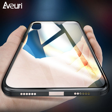 Купить с кэшбэком Luxury Tempered Glass Phone Case For iPhone X XR XS MAX 7 8 Plus Coque 9H Transparent Silicone Cover Case For iPhone 6 6S 6 Plus