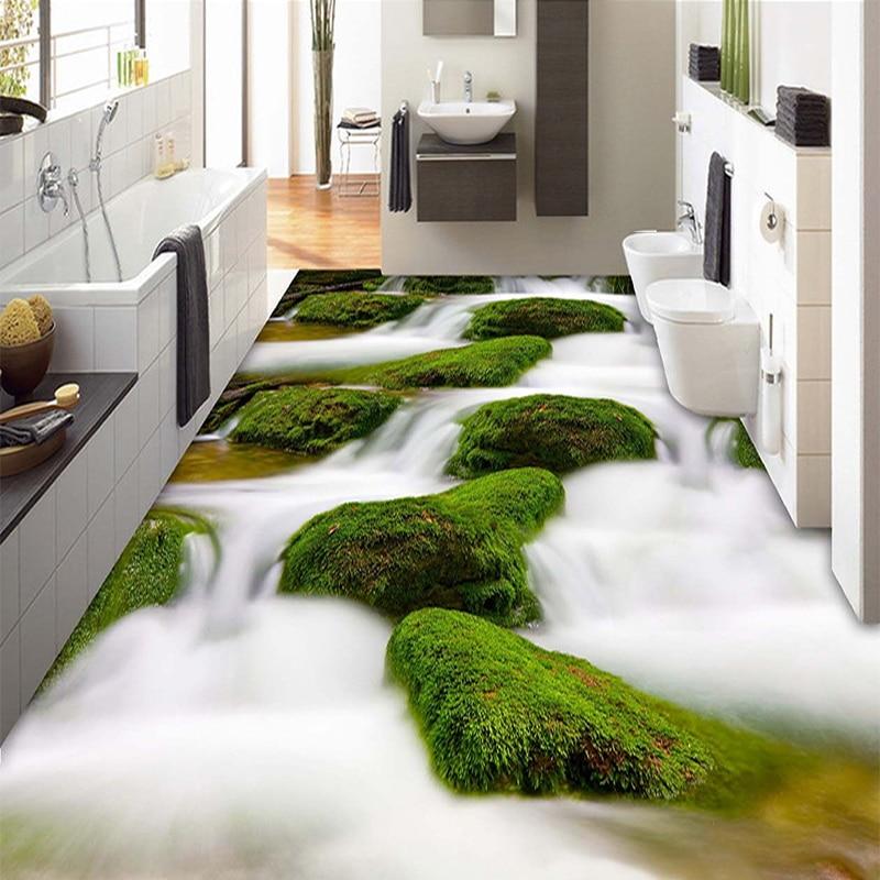 Custom Modern Design Flooring Landscape Wall Paper PVC