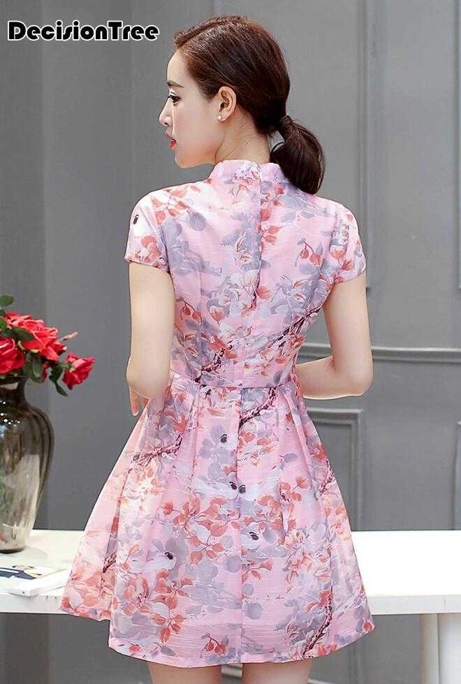 91d5652ec5 ... 2019 summer qipao chinese traditional women dress women Folk grade Dress  Cheongsam Retro Temperament Chinese Oriental ...