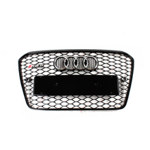 RS5 Style chrome emblem black Front Bumper mesh Grill Grille Car-styling for audi A5 2012~2015