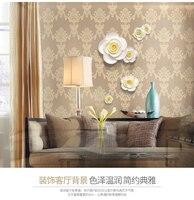 Diy 3d 4 pz muoni muro di pittura decorativa camera da letto adesivi murali divano sfondo muro accessori casa decorazione ceramica decorazione vaso