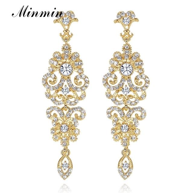 Minmin luxury chandelier earrings for women goldsilverblack minmin luxury chandelier earrings for women goldsilverblack crystal rhinestone bridal long earrings aloadofball Choice Image