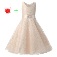 Elegant Party Wear Clothes For Children 9 Years To 15 Online Champagne Flower Girl Dresses For