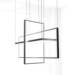Círculo colgante luces para sala Oficina dormitorio y cocina luces colgantes lustre de plafond moderne negro lámpara colgante LED