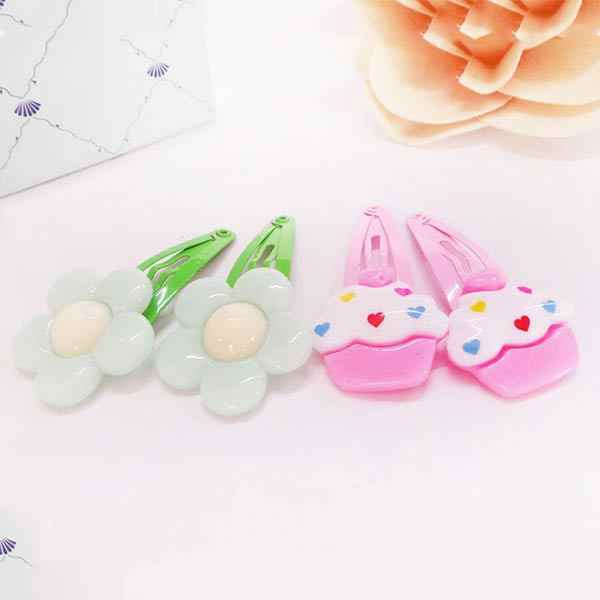 10Pcs/Lot Cartoon Kids Hair Pins Baby Infant Flower Clips Girls Lovely Hairpins Hair Accessories  666