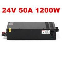 1PCS 1200W 50A 24V power supply 24V 50A adjustable power AC DC High Power PSU 1200W DC24V 110/220VAC