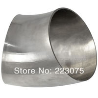 New Arrival Stainless Steel SS304 76mm 3 OD Sanitary Weld Elbow Pipe Fitting 45 Degree 2