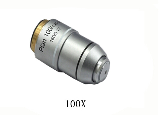 100X L=195 Plan Achromatic Biological Microscope Objective Lens Biomicroscopy Accessories Free Shipping