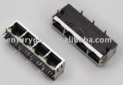 RJ45 Connector with magnetics/rj45 connector with 10/100/1000m filters(tab-up)/RJ45
