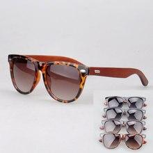 5117 unisex 100% UVB UVA protection hand made wood temple eyewear sunglasses 4 color choice