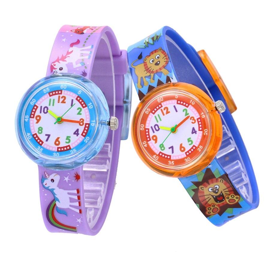 11 Designs Christmas Gift Cute Unicorn Girl Watch Children Fashion Watch SportS Jelly Cartoon New Boy Watch Relogio Infantil