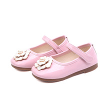 COZULMA 2019 New Spring Girls Shoes Kids Pu Leather Casual Princess Pearl Flower Mary Jane Dress Children Flat