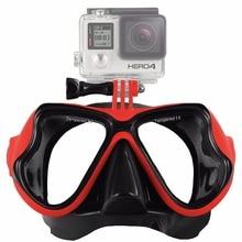 Cinturón Slicone Gafas Gafas de Buceo Máscara de buceo Snorkel Nadar Máscara de Montaje para GoPro Héroe 6 5 4 3 2, para Xiaomi SJ Cámara