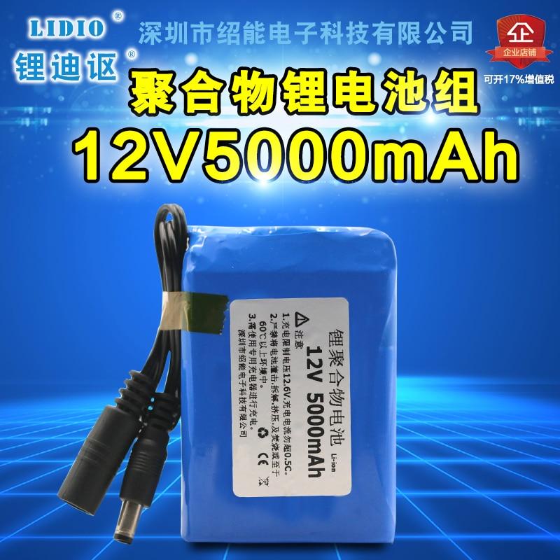 Shaoxing 12 V 5000 mAh polymère batterie haut-parleur moniteur puissance 12.6 V chargeur