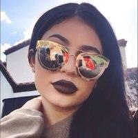 CandisGY 2016 New Women Flat Full Sunglasses Fashion Luxury Brand Designer Mirror Sun Glasses UV400 Gold