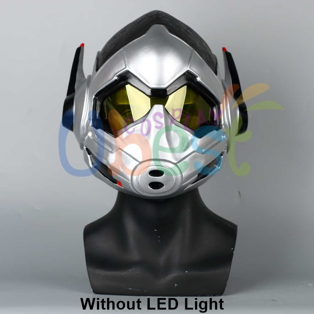 The Wasp LED Helmet Cosplay Ant-Man and The Wasp Helmet Superhero Woman Mask PVC