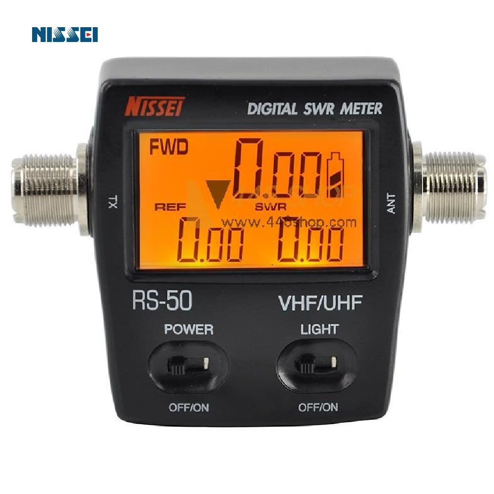 NISSEI RS-50 Compact Digital SWR/Watt Meter 125-525 MHz Ham Tester for Two Way Radio Protable Counter NISSEI RS-50 Compact Digital SWR/Watt Meter 125-525 MHz Ham Tester for Two Way Radio Protable Counter