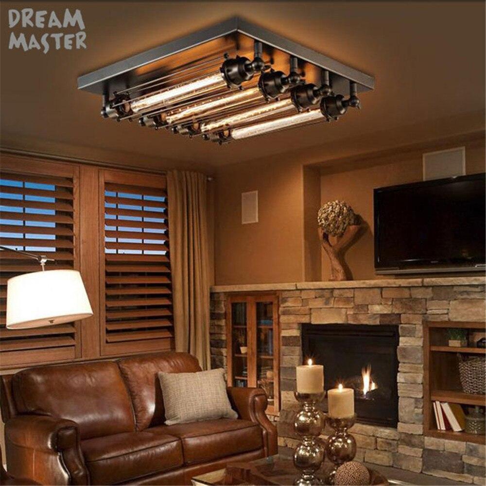 Image 5 - Black E27 Ceiling Light Loft Vintage Retro Ceiling Light Industrial Design lamp Edison Bulb Home Bar Cafe Shop Lighting Fixture-in Ceiling Lights from Lights & Lighting