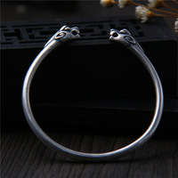 C&R Real 925 Sterling Silver bracelet Double headed Mythical Animals solid Thai Sliver bangle for women Fine Jewelry
