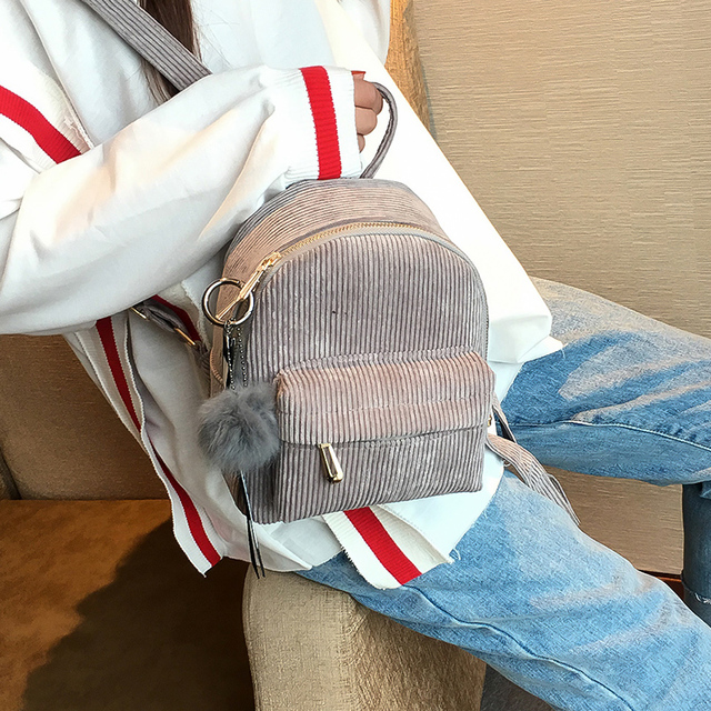 Corduroy Cute Mini Backpacks