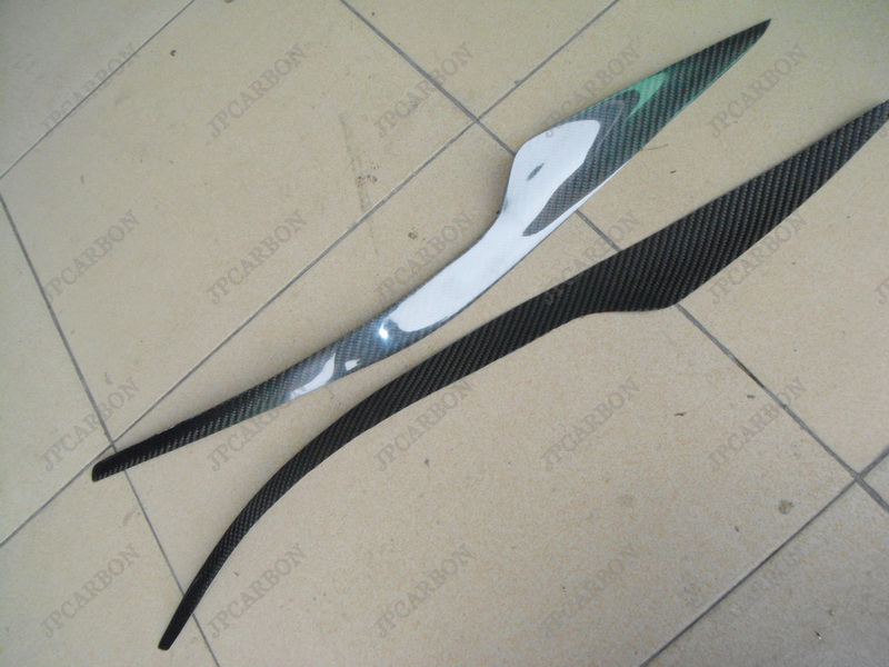 Carbon Fiber Headlight Eyebrows Eyelids 2007-2011 Honda CRV CR-V 2008 2009 2010