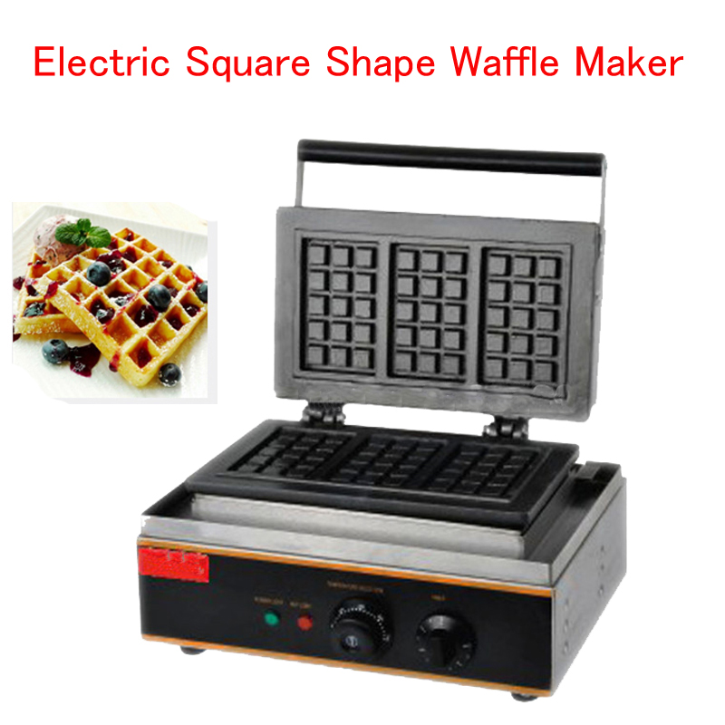 Electric Square Shape Waffle Maker Commercial Waffle Baker Plaid Cake Furnace Machine Heating Machine FY-115