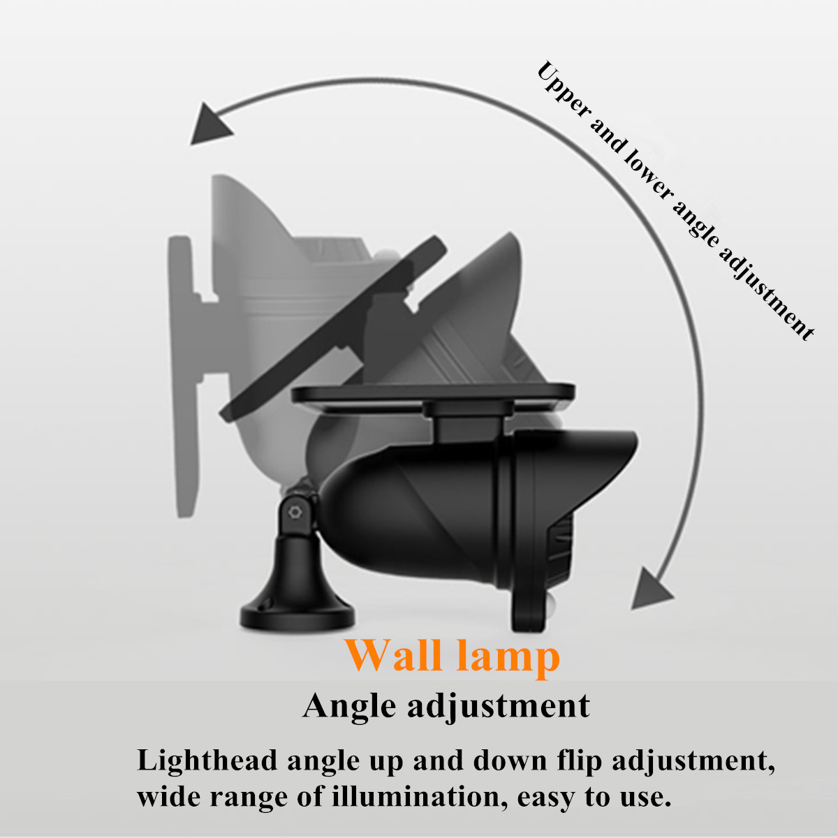 Светодиодный светильник на солнечной батарее, датчик движения PIR, настенный светильник, наружный водонепроницаемый энергосберегающий свет... - 5