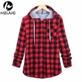 Kanye Hip hop Streetwear Plaid Shirt Men High Street Fashion Swag Clothing Loose Hipster Longline HOOD Chemise Homme
