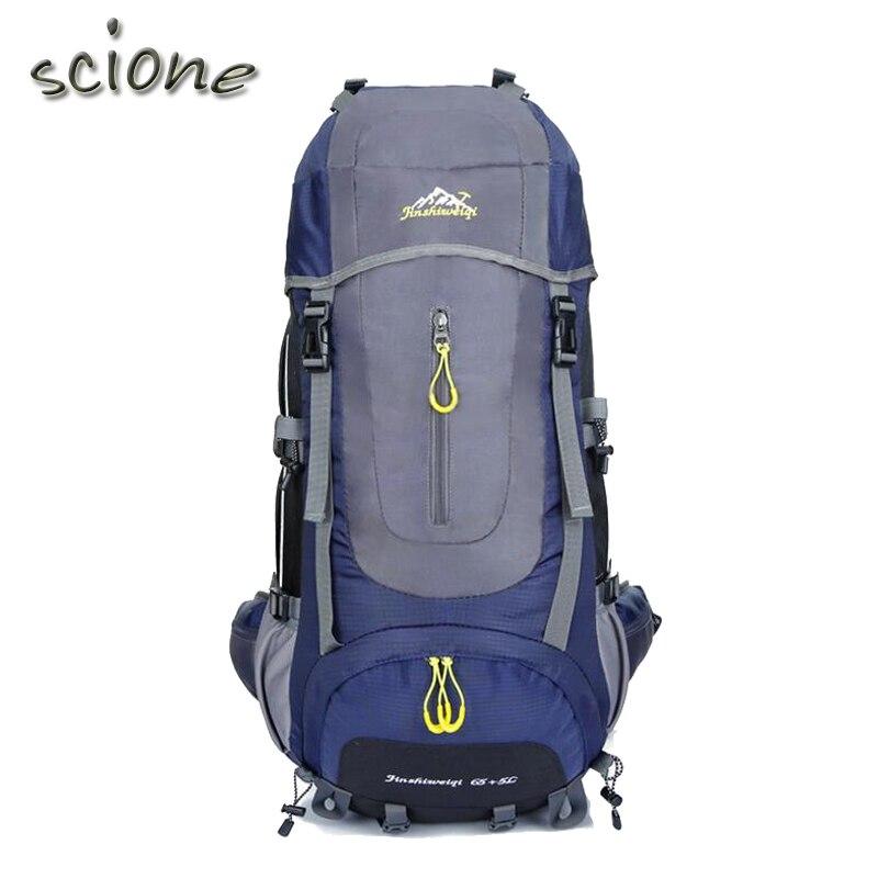 Prix pour 2017 Haute Qualité 70L 5 couleurs grand Alpinisme sac à dos en plein air sac à dos étanche voyage escalade camping étanche sac