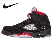 Nike Air Jordan 5 AJ5 Limited Edition Joint Men's Basketball Shoes Sneakers, Original Outdoor Sneakers 824371 001