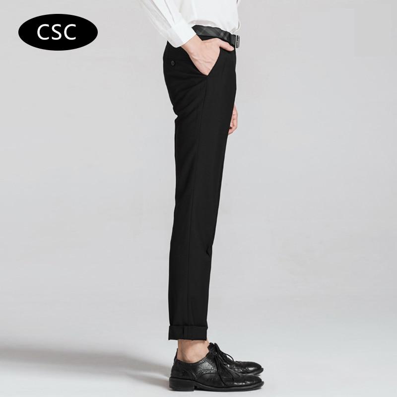 Erkek Gelinlik Suit Pantolon erkekler için 2018 moda Slim fit Parti - Erkek Giyim - Fotoğraf 4