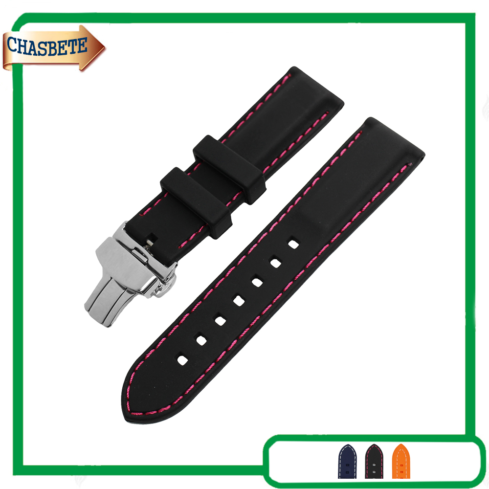 Silicone Rubber Watch Band for Omega Watchband 22mm Men Women Belt Wrist Loop Bracelet Resin Strap Black + Tool + Spring Bar eache silicone watch band strap replacement watch band can fit for swatch 17mm 19mm men women