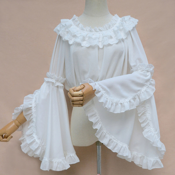 NEW Spring Summer Women Chiffon Short Tube Tops Lace Flounced Sweet Lolita Blouse Girls Strapless Inside Bottoming Shirts