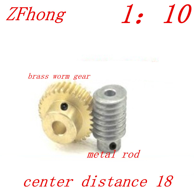 1M-20Teeths ratio:1:10 Electric Motors brass Worm Gear Rod Set worm gear hole 8mm, rod hole 8mm 1m 40teeth 1 4 precision copper worm gear rod screw machine parts gear hole 8mm rod hole 6mm